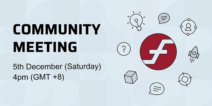 Community meeting 5th Dec